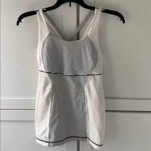 Lululemon White Energy Activewear Top
